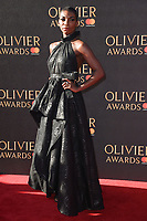 Michaela Coel at The Olivier Awards 2017 at the Royal Albert Hall, London, UK. <br /> 09 April  2017<br /> Picture: Steve Vas/Featureflash/SilverHub 0208 004 5359 sales@silverhubmedia.com