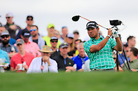 Hideki Matsuyama (JPN) on the 11th tee green during the 3rd round of the Waste Management Phoenix Open, TPC Scottsdale, Scottsdale, Arisona, USA. 02/02/2019.<br /> Picture Fran Caffrey / Golffile.ie<br /> <br /> All photo usage must carry mandatory copyright credit (© Golffile | Fran Caffrey)