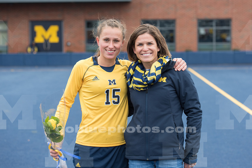 10/31/15 UM Women's Field Hockey team defeats Ohio State, 3-0 at Ocker Field in Ann Arbor, MI.