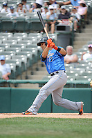 Akron RubberDucks catcher Alex Lavisky (13) during game against the Trenton Thunder at ARM & HAMMER Park on July 14, 2014 in Trenton, NJ.  Akron defeated Trenton 5-2.  (Tomasso DeRosa/Four Seam Images)