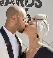 LOS ANGELES, CA - JUNE 26: Swizz Beatz and Alicia Keys at the 2016 BET Awards at the Microsoft Theater on June 26, 2016 in Los Angeles, California. Credit: Koi Sojer/MediaPunch