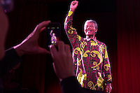 Montreal, CANADA - Dec 4 - Nelson Mandela enter the Grevin Museum of Montreal, December 4, 2014.<br /> <br /> Mandela came to Montreal in 1990, few months after beeing released from jail.<br /> <br /> Photo : Agence Quebec Pressse - Pierre Roussel