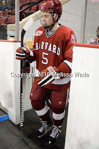 Dan Ford (Harvard - 5) - The Boston University Terriers defeated the visiting Harvard University Crimson 5-2 on Saturday, January 15, 2011, at Agganis Arena in Boston, Massachusetts.