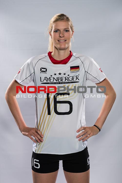 04.06.2015, Bundesleistungszentrum, Kienbaum<br /> Volleyball, Fotoshooting Nationalmannschaft Frauen<br /> <br /> Anja Brandt (#16 GER)<br /> <br />   Foto &copy; nordphoto / Kurth