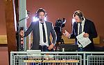 Stockholm 2014-10-22 Handboll Elitserien Hammarby IF - IK S&auml;vehof :  <br /> TV4 expert Tomas Axn&eacute;r p&aring; pressl&auml;ktaren i Eriksdalshallen under matchen mellan Hammarby IF och IK S&auml;vehof <br /> (Foto: Kenta J&ouml;nsson) Nyckelord:  Eriksdalshallen Hammarby HIF HeIF Bajen IK S&auml;vehof portr&auml;tt portrait TV