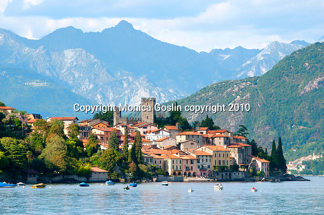 The town of Rezzonico, Italy on Lake Como