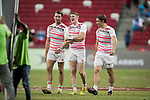 The English team at the conclusion of the match United States vs Canada, the Cup Final of the HSBC Singapore Rugby Sevens as part of the World Rugby HSBC World Rugby Sevens Series 2016-17 at the National Stadium on 16 April 2017 in Singapore. Photo by Victor Fraile / Power Sport Images