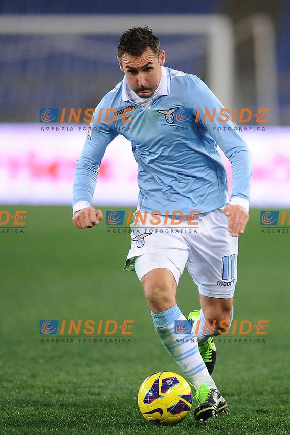 Miroslav Klose Lazio.05/01/2013 Roma.Stadio Olimpico.Football Calcio 2012 / 2013 .Campionato di Calcio Serie A.Lazio vs Cagliari 2-1.Foto Insidefoto / Antonietta Baldassarre.
