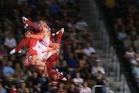 TORONTO, CANADÁ, 19.07.2015 - PAN-GINASTICA-TRAMPOLIM - Apresentação na Ginastica no trampolim nos Jogos Panamericanos no Toronto Coliseum, no Canadá, neste domingo, 19. (Foto: Vanessa Carvalho/Brazil Photo Press)