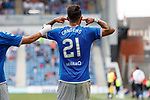 14.07.2019: Rangers v Marseille: Daniel Candeias celebrates his second goal by sticking his fingers in both ears