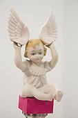 London, England. 14 October 2014. Small angel figure. Frieze Art Fair 2014 opens in Regent's Park, London. Photo: Bettina Strenske