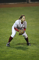 15 February 2008: Stanford Cardinal Autumn Albers during Stanford's 11-0 win against the Wichita State Shockers in the Stanford Invitational I at the Boyd and Jill Smith Family Stadium in Stanford, CA.