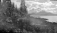 Alberta - Maligne Lake with Mounts Unwin and Charlton<br /> <br /> Photograph by Joe Weiss