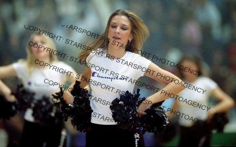 Kosarka.Partizan Vs. Wroclaw (Poland), Euroleague.Chillyleaders.Beograd, 2003.foto: Srdjan Stevanovic ©