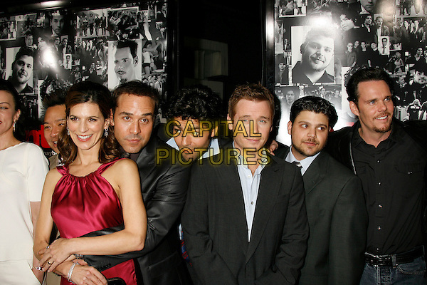 "PERREY REEVES, JEREMY PIVEN, ADRIENGRENIER, KEVIN CONNOLLY, JERRY FERRARA & KEVIN DILLON.Attending the ""Entourage"" Third Season Los Angeles Premiere held at the ArcLight Cinemas Cinerama Dome. Hollywood, California, USA, 05 April, 2007..half length cast.CAP/ADM/RE.©Russ Elliot/AdMedia/Capital Pictures."