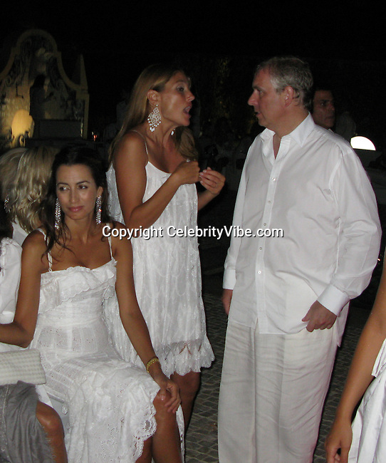 **EXCLUSIVE**.Prince Andrew with more girls at Claude Ott's Private Party in a Villa in St. Tropez, France..Friday, July 25, 2008..Photo By CelebrityVibe.com.To license this image please call (212) 410 5354; or Email: celebrityvibe@gmail.com ;.website: www.celebrityvibe.com