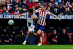 Saul Niguez of Atletico de Madrid and Victor Sanchez of RCD Espanyol during La Liga match between Atletico de Madrid and RCD Espanyol at Wanda Metropolitano Stadium in Madrid, Spain. November 10, 2019. (ALTERPHOTOS/A. Perez Meca)