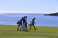 Padraig Harrington (IRL) and Jonas Blixt (SWE) on the 13th hole at Pebble Beach course during Friday's Round 2 of the 2018 AT&amp;T Pebble Beach Pro-Am, held over 3 courses Pebble Beach, Spyglass Hill and Monterey, California, USA. 9th February 2018.<br /> Picture: Eoin Clarke | Golffile<br /> <br /> <br /> All photos usage must carry mandatory copyright credit (&copy; Golffile | Eoin Clarke)
