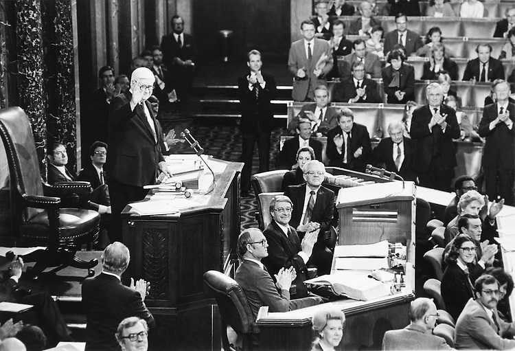 "Speaker of the House, Rep. Thomas Phillip ""Tip"" O'Neill leading the House of Represenatives. (Photo by CQ Roll Call)"
