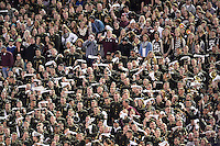 Members of Texas A&M Cadet Corps wave whit towel during an NCAA football game, Thursday, November 27, 2014 in College Station, Tex. (Mo Khursheed/TFV Media via AP Images)