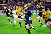 Charlie Ngatai in action during the Super Rugby match between the Hurricanes and Chiefs at Westpac Stadium in Wellington, New Zealand on Friday, 13 April 2018. Photo: Dave Lintott / lintottphoto.co.nz