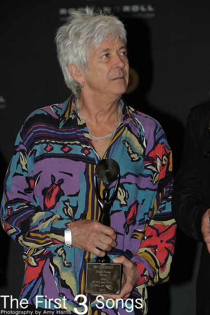 Ian McLagan of The Small Faces/The Faces in the press room of the Rock & Roll Hall of Fame Induction Ceremony in Cleveland, Ohio on April 14, 2012.