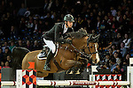 William Whitaker of United Kingdom riding on Utamaro D Ecaussines competes during the EEM Trophy, part of the Longines Masters of Hong Kong on 10 February 2017 at the Asia World Expo in Hong Kong, China. Photo by Marcio Rodrigo Machado / Power Sport Images
