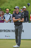 Ryan Blaum (USA) watches his tee shot on 1 during round 4 of the AT&T Byron Nelson, Trinity Forest Golf Club, at Dallas, Texas, USA. 5/20/2018.<br /> Picture: Golffile | Ken Murray<br /> <br /> All photo usage must carry mandatory copyright credit (© Golffile | Ken Murray)