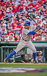 6 April 2015: New York Mets outfielder Curtis Granderson at bat during the Season Opening Game against the Washington Nationals at Nationals Park in Washington, DC. The Mets rallied to defeat the Nationals 3-1 in their first meeting of the 2015 MLB season. Mandatory Credit: Ed Wolfstein Photo *** RAW (NEF) Image File Available ***