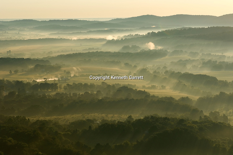 Albemarle County, VA, Aerial view of the Southwest Mountains