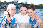 RIVER ROWING: Meave McGillicuddy, Nadia Ross and Sarah Edwards from Killorglin at the Kerry Head of the River Rowing competition in Killorglin last Saturday..