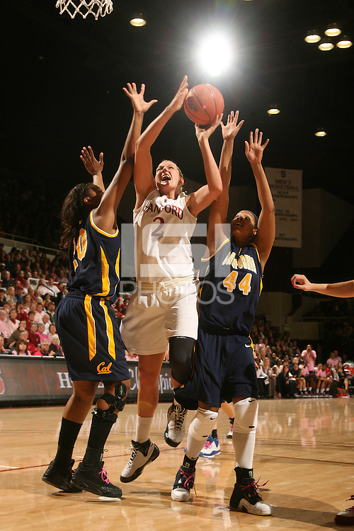 STANFORD, CA - FEBRUARY 14:  Forward Jayne Appel #2 of the Stanford Cardinal during Stanford's 58-41 win against the California Golden Bears on February 14, 2009 at Maples Pavilion in Stanford, California.