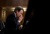 UNITED STATES - SEPTEMBER 27: Judge Brett Kavanaugh testifies during the Senate Judiciary Committee hearing on his nomination be an associate justice of the Supreme Court of the United States, focusing on allegations of sexual assault by Kavanaugh against Christine Blasey Ford in the early 1980s. (Photo By Tom Williams/CQ Roll Call/POOL)