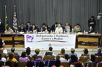 SAO PAULO, 29 DE JUNHO DE 2012 - AUDIENCIA VIOLENCIA CONTRA A MULHER MARTA SUPLICY - audiencia sobre a questão da violência contra a mulher no Estado de São Paulo com a participacao da Senadora Marta Suplicy, na tarde desta sexta feira, na Assembleia Legislativa, regiao sul da capital. FOTO: ALEXANDRE MOREIRA - BRAZIL PHOTO PRESS