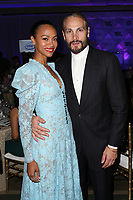 LOS ANGELES, CA - NOVEMBER 8: Zoe Saldana and Marco Perego Saldana at the Eva Longoria Foundation Dinner Gala honoring Zoe Saldaña and Gina Rodriguez at The Four Seasons Beverly Hills in Los Angeles, California on November 8, 2018. Credit: Faye Sadou/MediaPunch