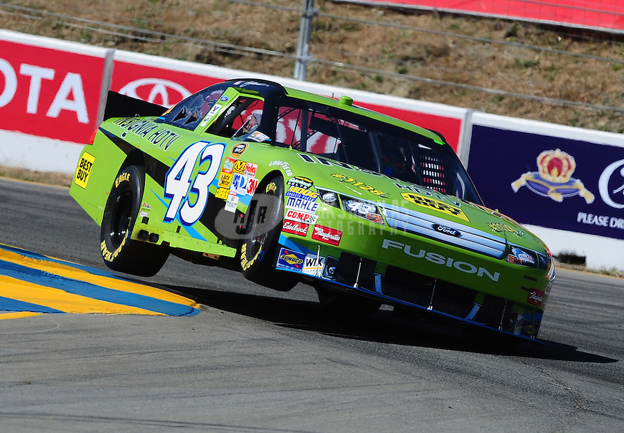 Jun. 19, 2010; Sonoma, CA, USA; NASCAR Sprint Cup Series driver A.J. Allmendinger during practice for the SaveMart 350 at Infineon Raceway. Mandatory Credit: Mark J. Rebilas-