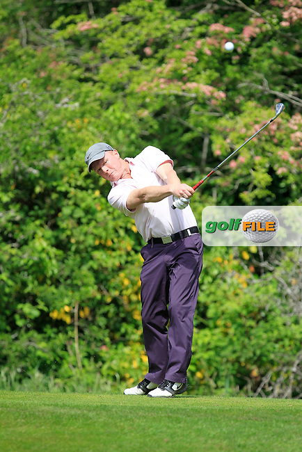 Alan Doherty (Corrstown) on the 2nd tee during Round 1 of the Irish Mid-Amateur Open Championship at New Forest on Saturday 20th June 2015.<br /> Picture:  Thos Caffrey / www.golffile.ie