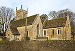 Historic village parish church of All Saints, Lydiard Millicent, Wiltshire, England, UK