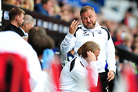 Billy Reid, assistant manager for Swansea in action during the Sky Bet Championship match between Swansea City and Nottingham Forest at the Liberty Stadium, in Swansea, Wales, UK. Saturday 15 September 2018
