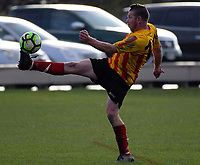 Action from the Capital Football Masters League 3 football match between Stop Out and Stokes Valley Snakes at Hutt Park in Wellington, New Zealand on Saturday, 27 May 2017. Photo: Dave Lintott / lintottphoto.co.nz
