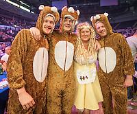 09.04.2015. Sheffield, England. Betway Premier League Darts. Matchday 10.  Darts fans at the 2015 Premier League Darts.