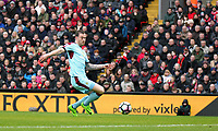 Burnley's Ashley Barnes scores the opening goal  <br /> <br /> Photographer Rich Linley/CameraSport<br /> <br /> The Premier League - Liverpool v Burnley - Sunday 12 March 2017 - Anfield - Liverpool<br /> <br /> World Copyright &copy; 2017 CameraSport. All rights reserved. 43 Linden Ave. Countesthorpe. Leicester. England. LE8 5PG - Tel: +44 (0) 116 277 4147 - admin@camerasport.com - www.camerasport.com