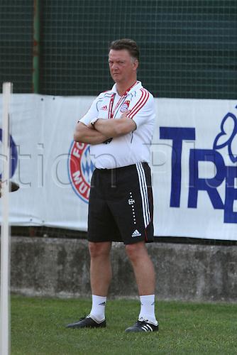 19/07/2010 Summer football training Bayern M in Arco, Trentino on 19/07/2010, ITALY. Louis van Gaal  on 19/07/2010, in Riva del Garda, Italy.