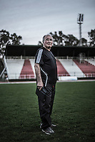 Oscar Zambrano, head coach of Angol's soccer team in Angol, September, 2012..Photo by Roberto Candia