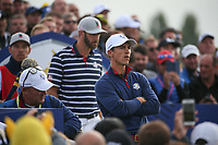 Thorbjorn Olesen (Team Europe) during Friday's Fourballs, at the Ryder Cup, Le Golf National, Îls-de-France, France. 28/09/2018.<br /> Picture David Lloyd / Golffile.ie<br /> <br /> All photo usage must carry mandatory copyright credit (© Golffile | David Lloyd)