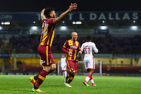 Nathaniel Knight-Percival of Bradford City celebrates scoring to make it 2-0 during the Sky Bet League 1 match between Bradford City and MK Dons at the Northern Commercial Stadium, Bradford, England on 24 April 2018. Photo by Thomas Gadd.