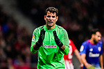 Goalkeeper Iago Herrerin of Athletic de Bilbao reacts during the La Liga 2018-19 match between Atletico de Madrid and Athletic de Bilbao at Wanda Metropolitano, on November 10 2018 in Madrid, Spain. Photo by Diego Gouto / Power Sport Images