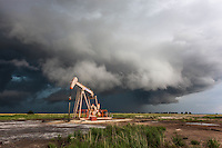 Severe Thunderstorm behind an Oil Pump in Kansas