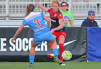 Boyds, MD - Saturday July 09, 2016: Victoria Huster, Arin Gilliland during a regular season National Women's Soccer League (NWSL) match between the Washington Spirit and the Chicago Red Stars at Maureen Hendricks Field, Maryland SoccerPlex.
