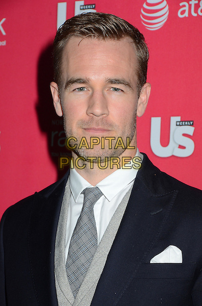 James Van Der Beek.Us Weekly hosts annual Hot Hollywood Style issue celebrating 2013 fashionable style celebrities, Hollywood, California, USA, .18th April 2013..portrait headshot beard facial hair  grey gray waistcoat blue navy jacket tie blazer .CAP/ADM/BT.©Birdie Thompson/AdMedia/Capital Pictures